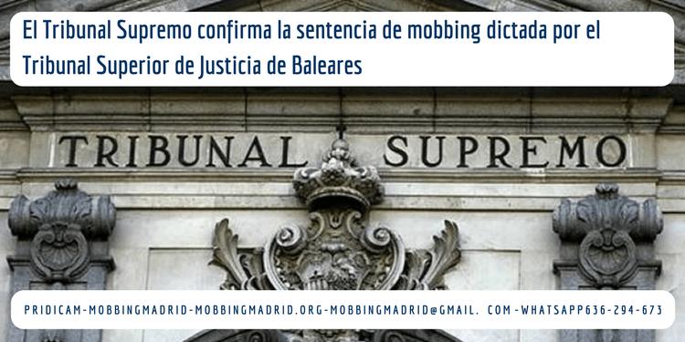 sentencia de mobbing