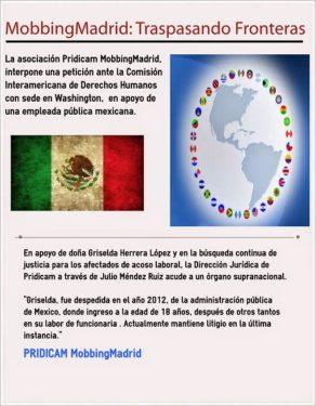 Mobbing Madrid, interpone una petición ante la OEA en apoyo de una empleada pública mexicana