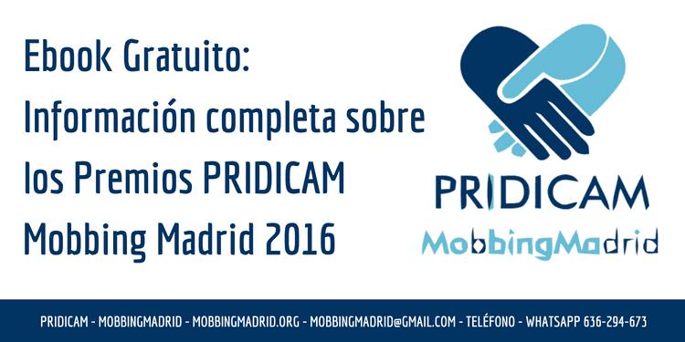 Premios PRIDICAM Mobbing Madrid 2016